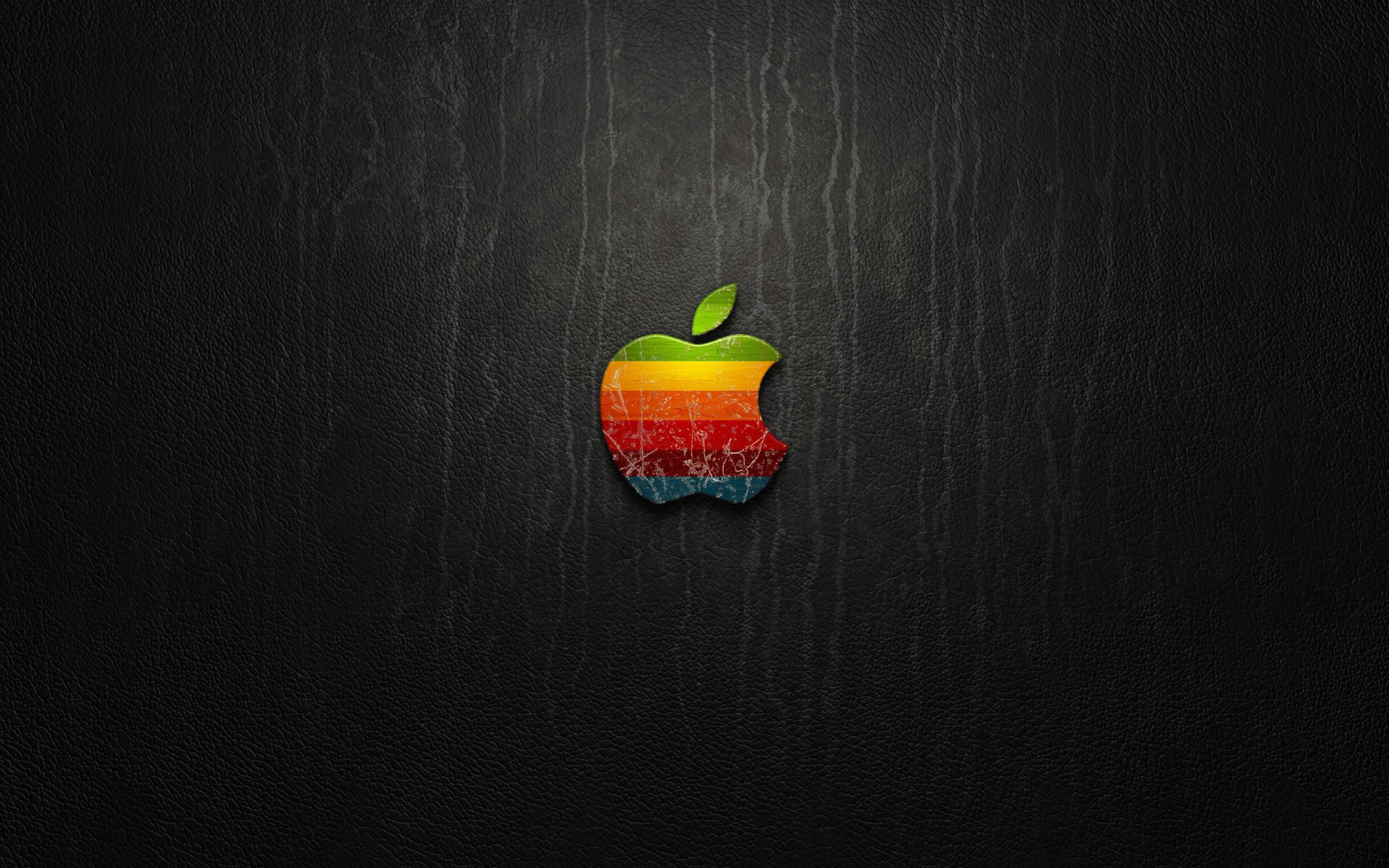 apple logo leather wallpaper [2560x1600]