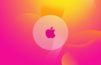 Apple Logo Pink Wallpaper 2560x1600 340x220