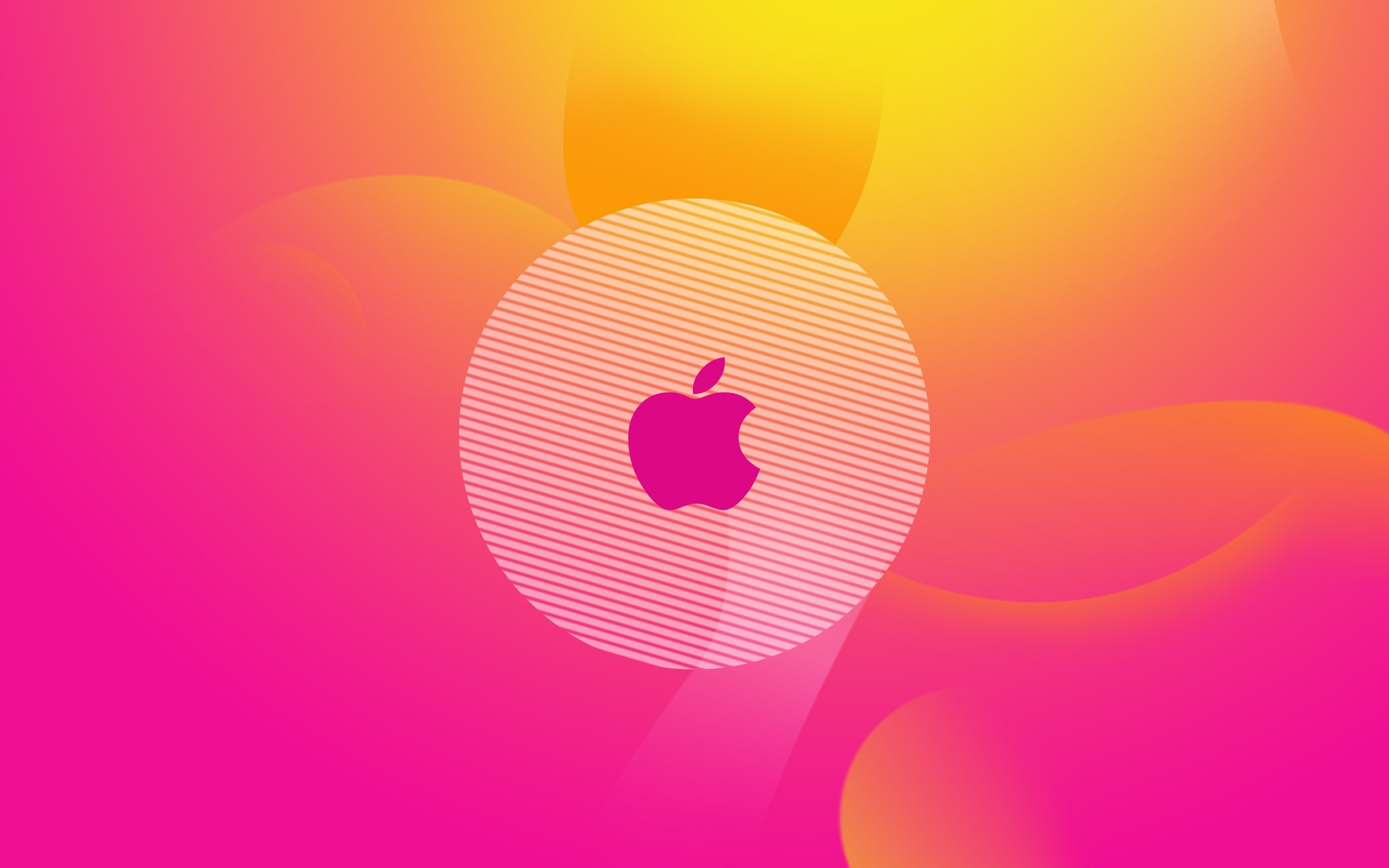 Apple Logo Pink Wallpaper 2560x1600