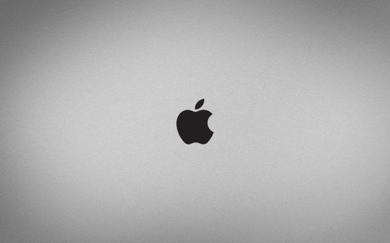 Apple Logo Simple Black And White Wallpaper 1280x800 768x480