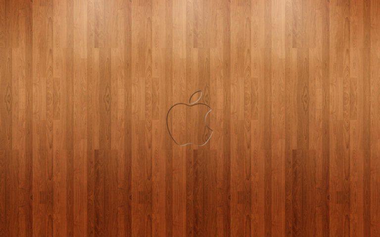 Apple Logo Wood Wallpaper 1920x1200 768x480