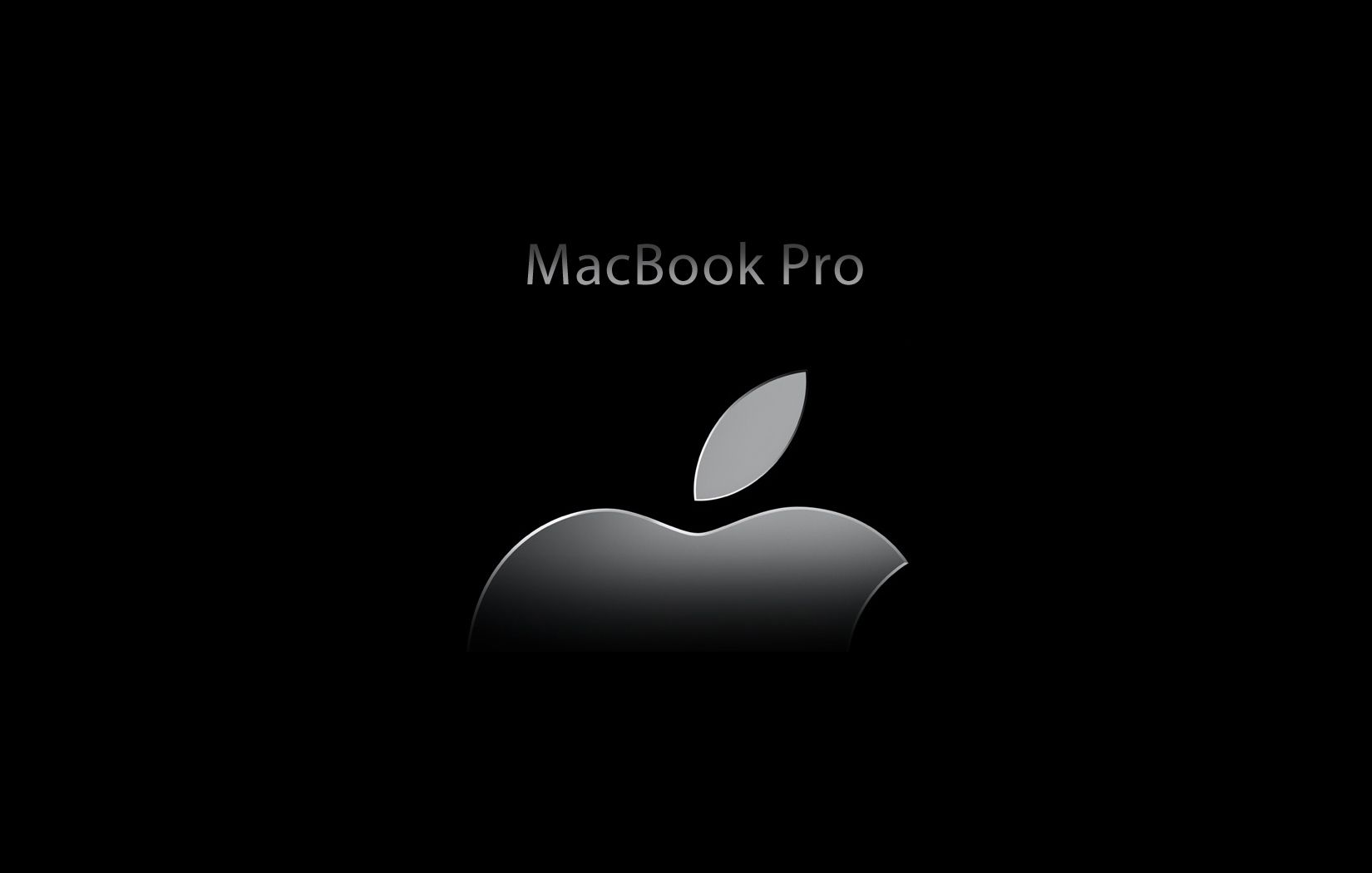 apple macbook pro black wallpaper [1650x1050]