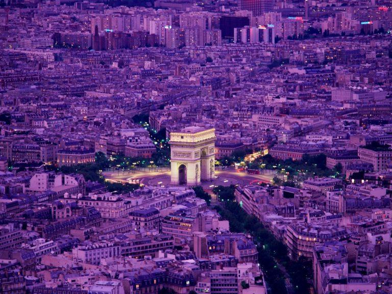 Arc De Triomphe Paris France Wallpaper 1600x1200 768x576