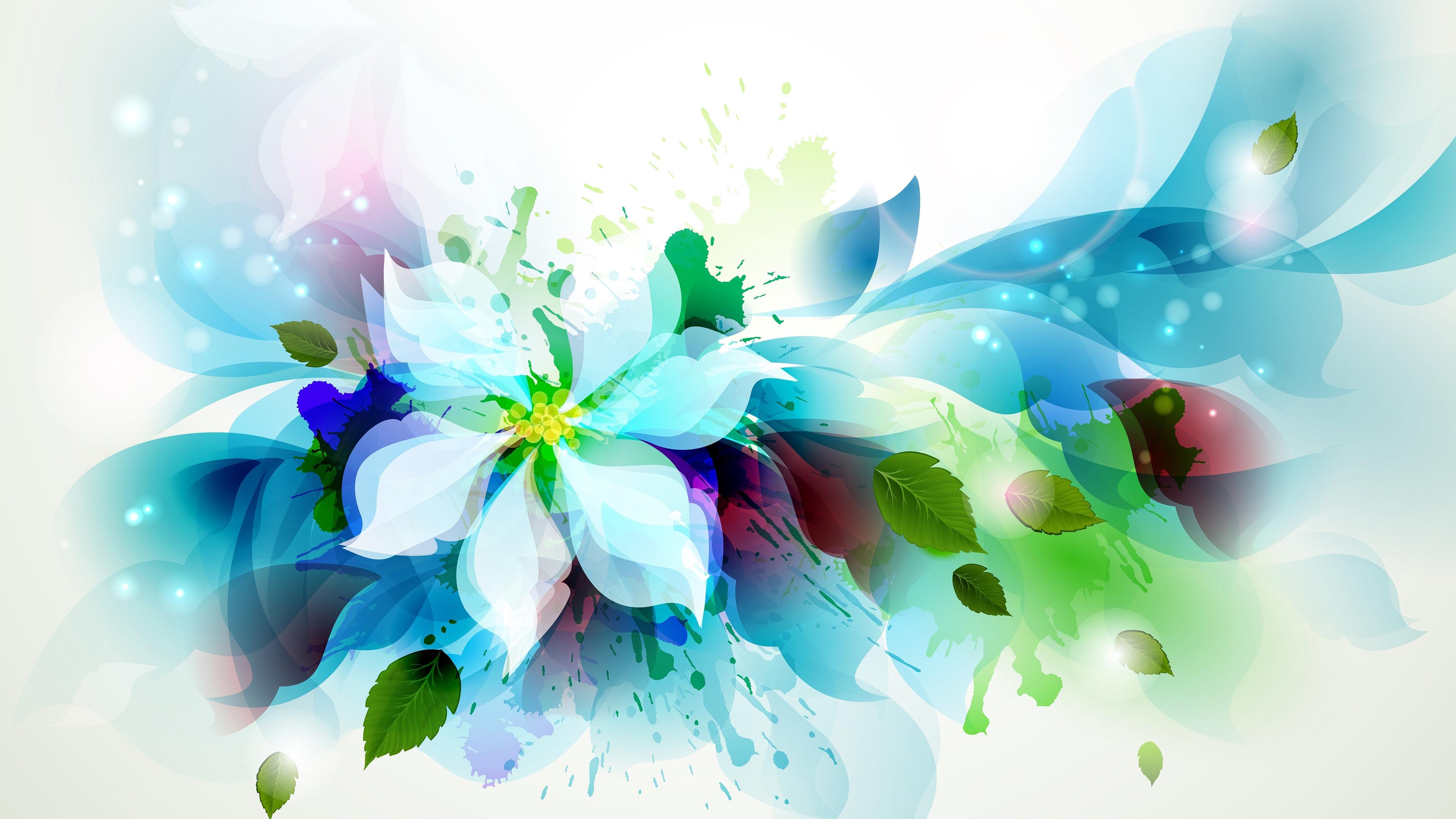 Artistic Flower 4K Wallpaper 3840x2160