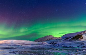 Aurora Borealis Winter 4K Wallpaper 3840x2160 340x220