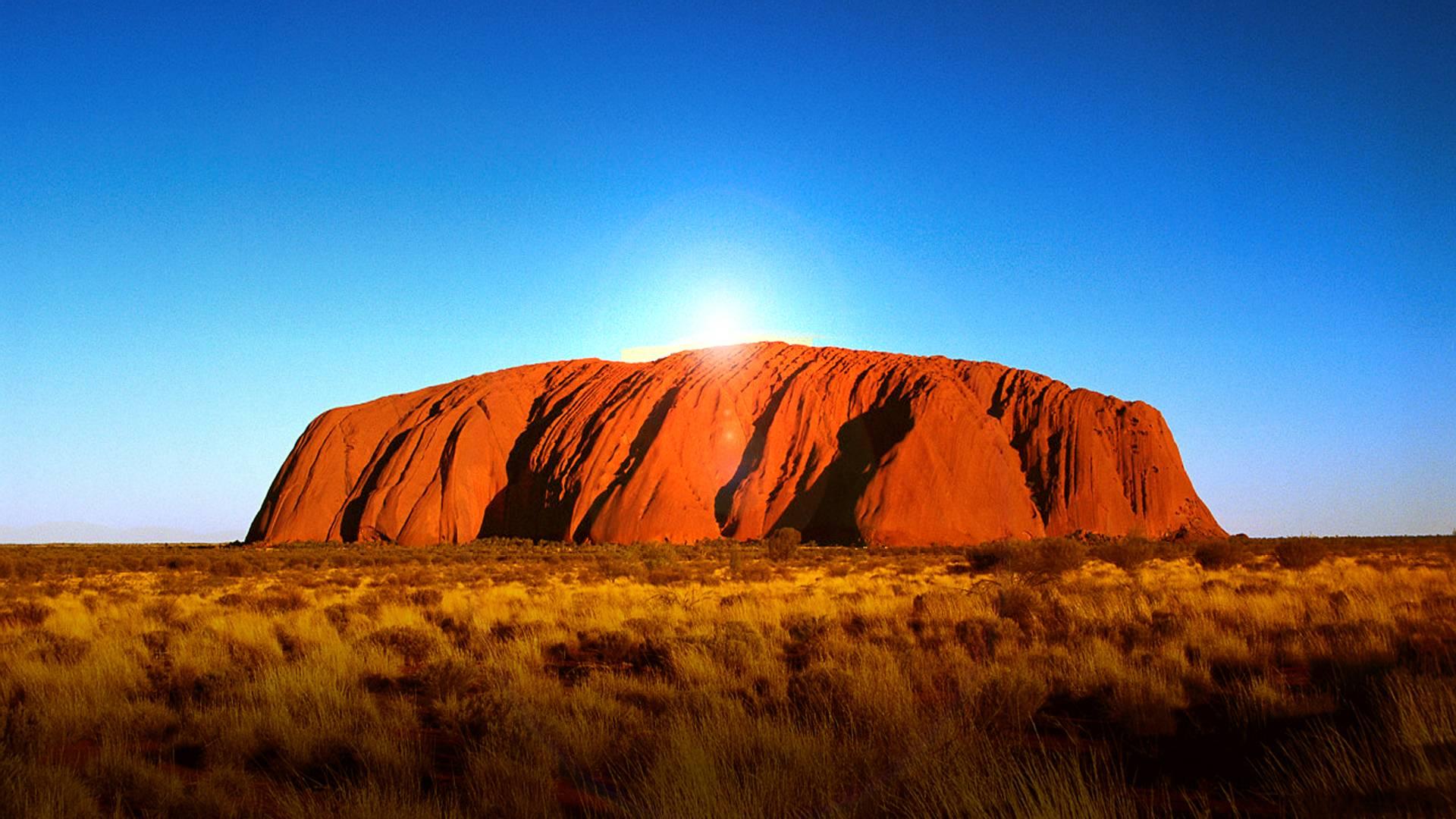 природа поле Улуру австралия скалы  № 586554 без смс