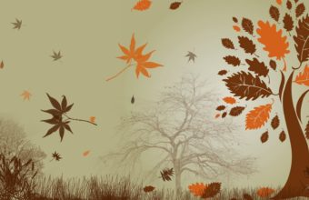 Autumn Abstract Wallpaper 1920x1080 340x220