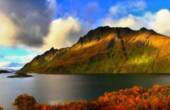 Autumn Lake Wallpaper 1920x1200 340x220