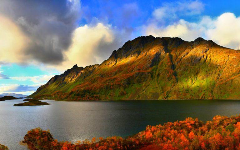 Autumn Lake Wallpaper 1920x1200 768x480