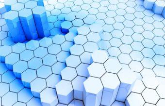 Background Figures Blue Wallpaper 340x220