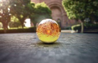 Ball Glass Surface Wallpaper 340x220