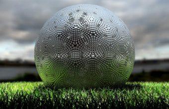 Ball Grass Silver Wallpaper 340x220