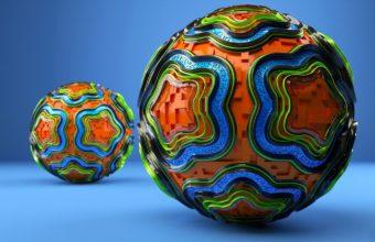 Ball Line Shape Wallpaper 340x220