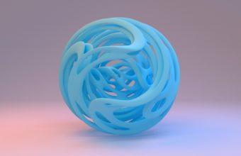 Ball Shape Blue Wallpaper 340x220