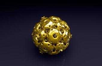 Ball Shape Gold Wallpaper 340x220