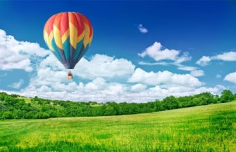 Balloon In Sky Wallpaper 1680x1050 340x220