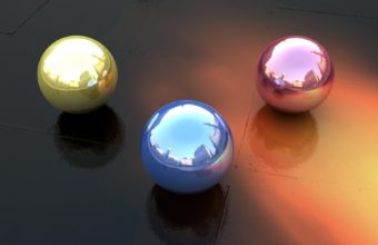 Balls Form Reflection Wallpaper 340x220