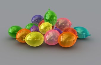Balls Ovals Colorful Wallpaper 340x220