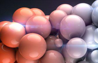 Balls Shape Light Wallpaper 340x220