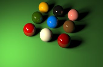 Balls Smooth Colored Wallpaper 340x220