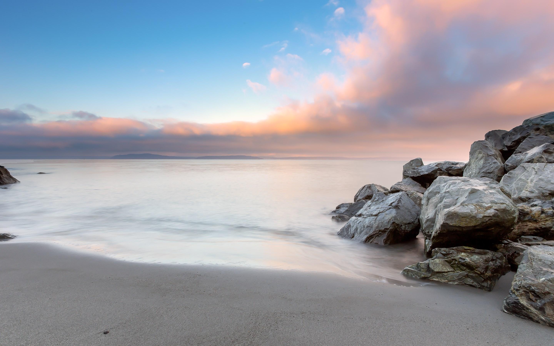 Beach Rocks Stones Ocean Wallpaper [2880x1800]