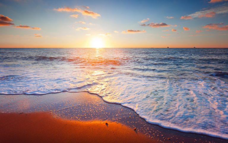 Beach Sand Clouds Landscape Sea Sky Wallpaper 1229x768 768x480