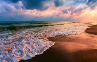 Beach Sand Shore Seascapes Wallpaper 1229x768 340x220