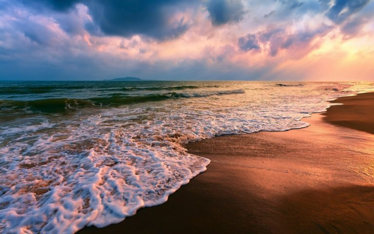 Beach Sand Shore Seascapes Wallpaper 1229x768 768x480