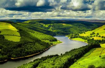 Beautiful River Mountains 4K Wallpaper 3840x2160 340x220