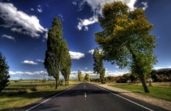 Beautiful Straight Road In The Country Hdr Wallpaper 1920x1200 340x220