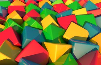 Blocks Many Color Wallpaper 340x220