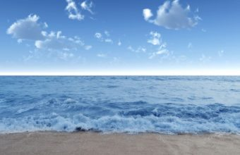 Blue Calm Beach Wallpaper 1229x768 340x220