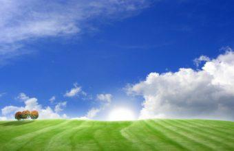 Blue Green Bliss Wallpaper 1680x1050 340x220