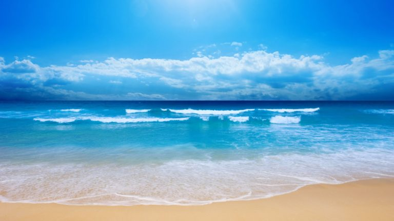 Blue Sea Waves Wallpaper 1920x1080