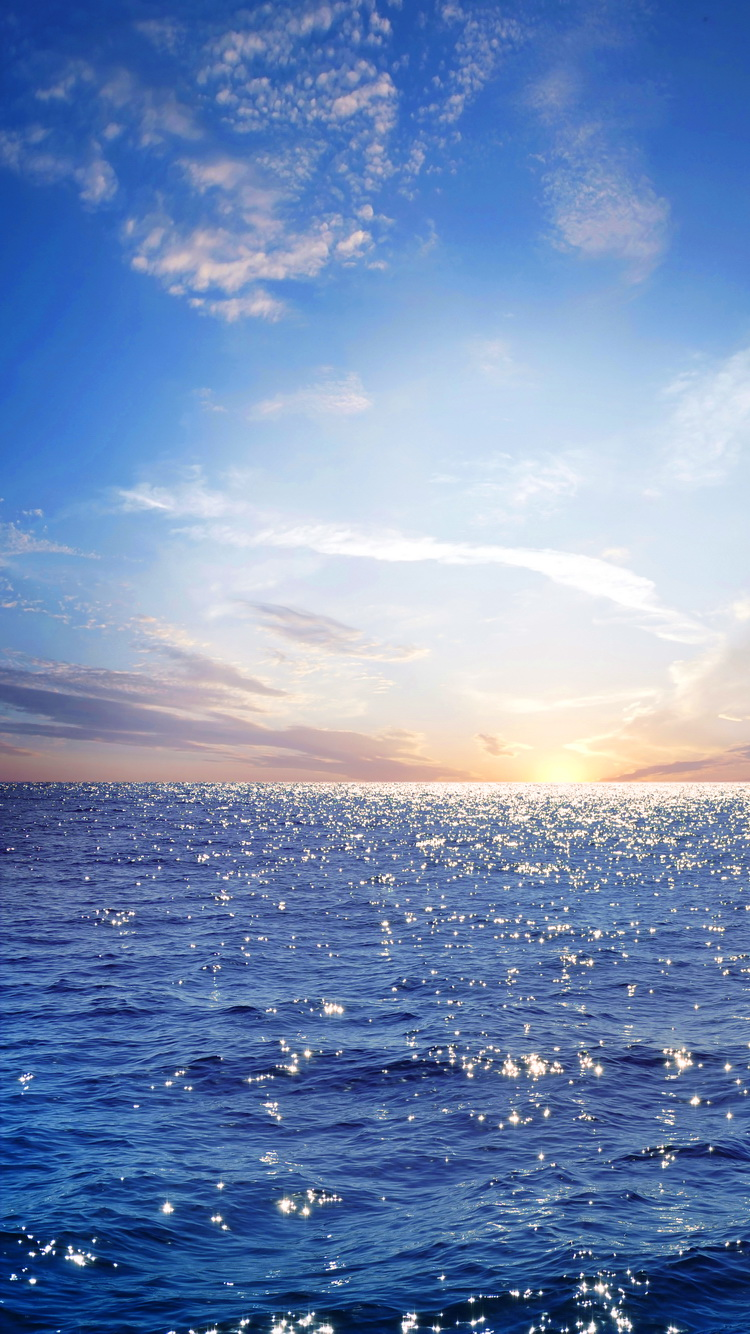 Blue Sea IPhone 7 Wallpaper 750x1334