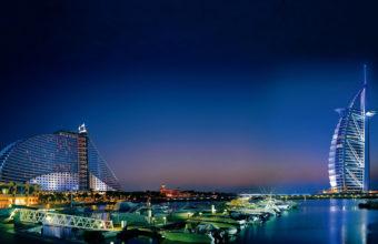 Buraj Al Arab Night View Wallpaper 3840x2160 340x220