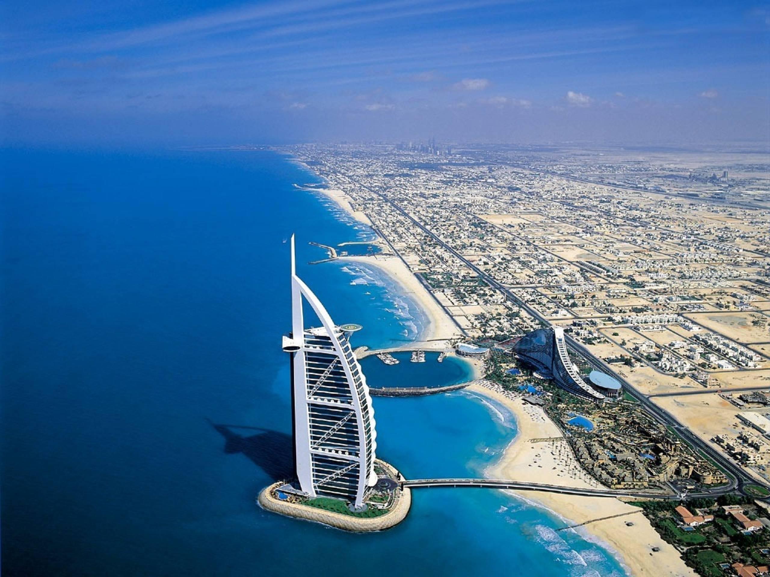 страны архитектура море Объединенные Арабские Эмираты скачать