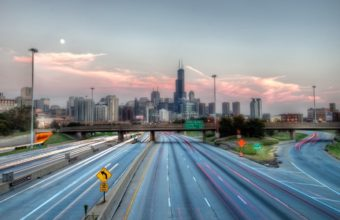 Chicago Usa Highway Wallpaper 1440x810 340x220