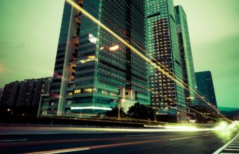 City ​​Lights Buildings Wallpaper 1440x900 340x220