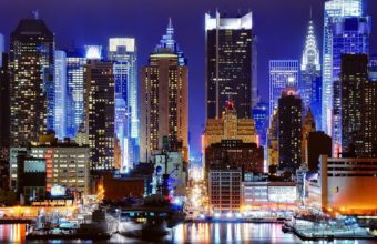 Cityscapes Night New York City Wallpaper 1920x1200 340x220