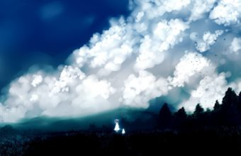 Clouds Landscapes Nature Trees Dress Wallpaper 2560x1440 340x220