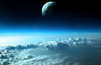 Clouds Outer Space Planets Earth Wallpaper 1920x1200 340x220