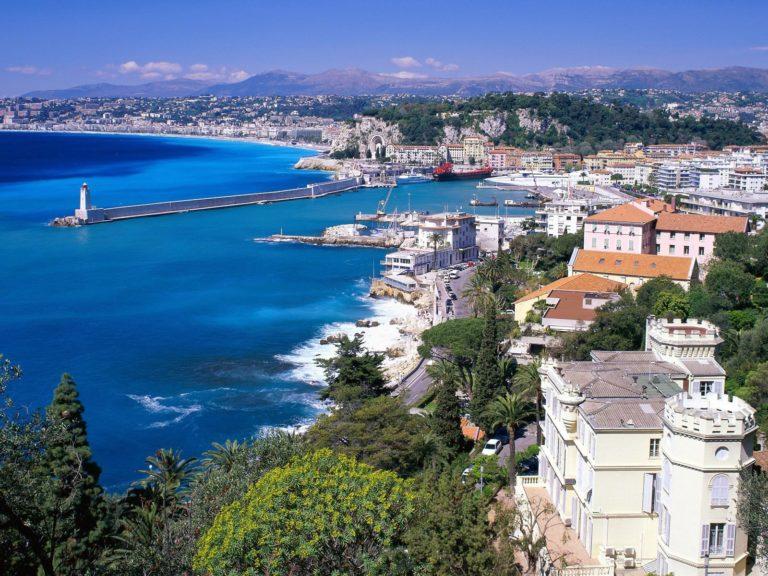 Coastal View Nice France Wallpaper 1600x1200 768x576
