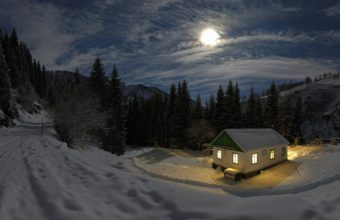 Cold Moon House Wallpaper 2560x1600 340x220