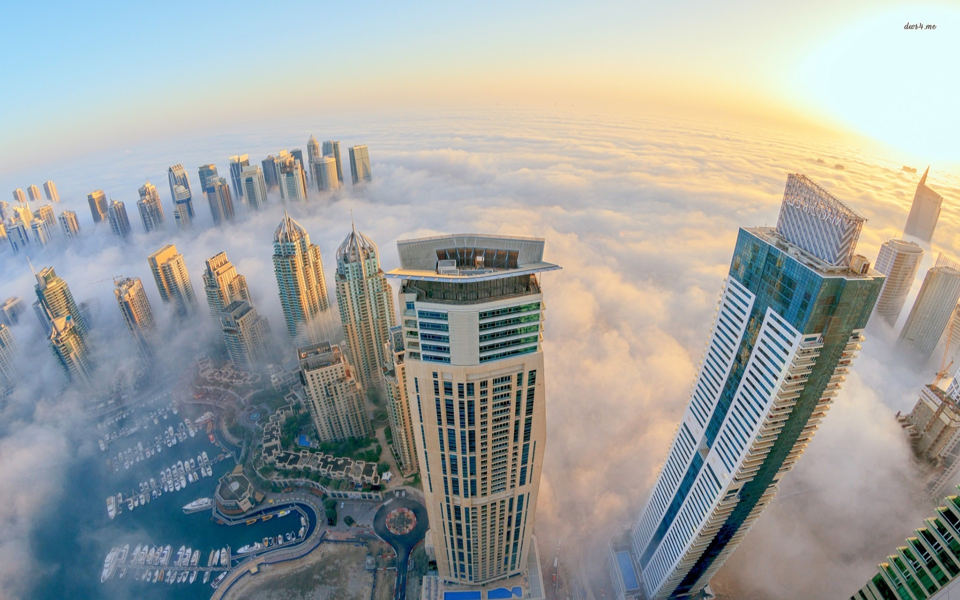 Dubai at the top morning wallpaper 1920x1200 for Best at dubai