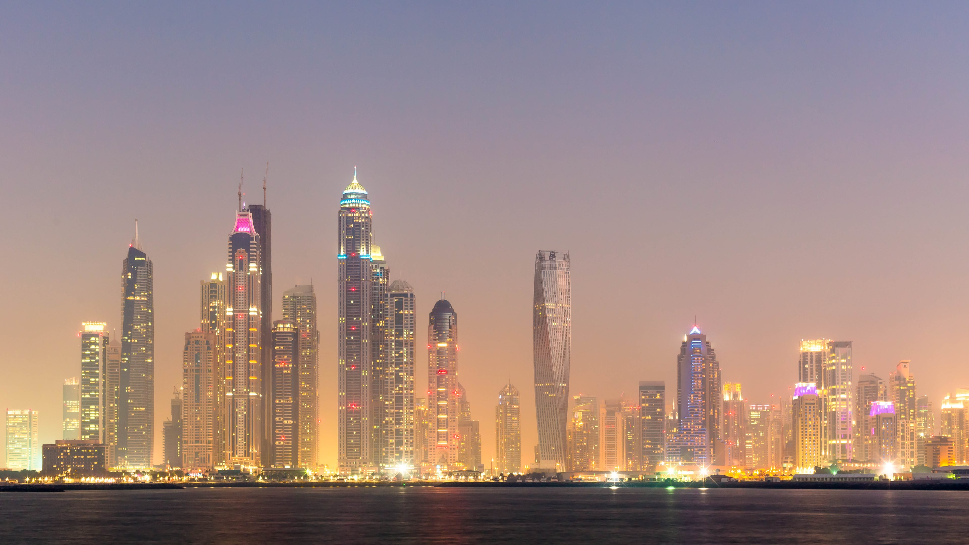 Dubai Lights 4K Wallpaper [3840x2160]