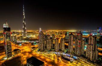 Dubai Night Wallpaper 1920x1200 340x220