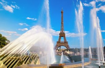 Eiffel Tower Fountain Paris Wallpaper 1600x1200 340x220