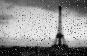 Eiffel Tower Water Black And White Wallpaper 2560x1440 340x220