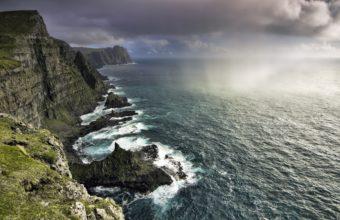 Faroe Islands Ocean Rocks 340x220